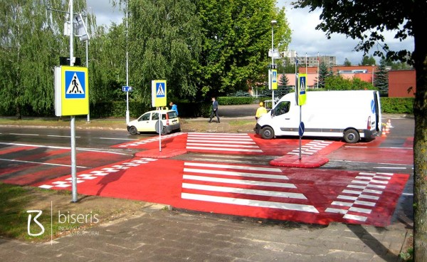 The safest pedestrian crossing in Lithuania in 2014
