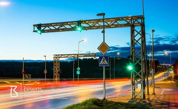 Installation of traffic lights at Molėtų plentas/Skersinė street junction